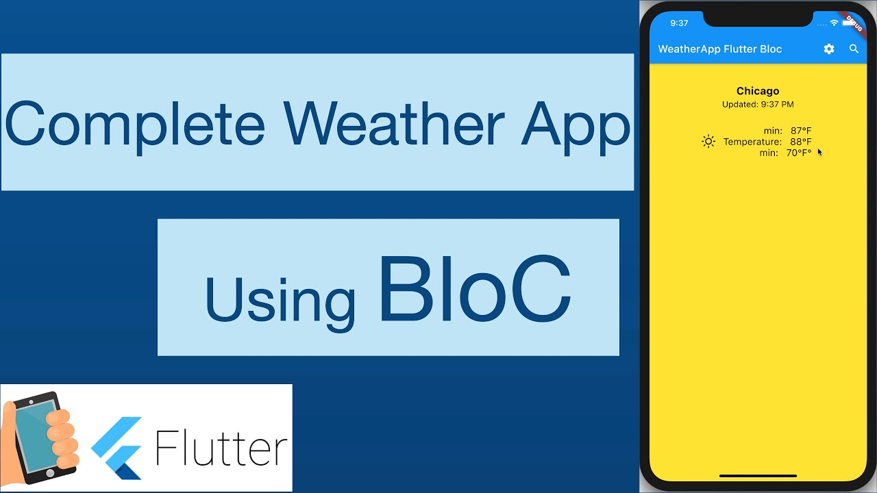 43-Write complete Weather App using Flutter, Bloc, State management, API Calling