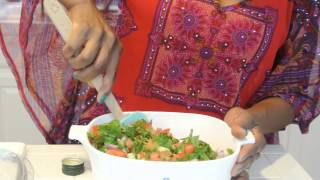 Turmeric Vegetable Rice With Salmon And Shirazi Salad (episode 4)