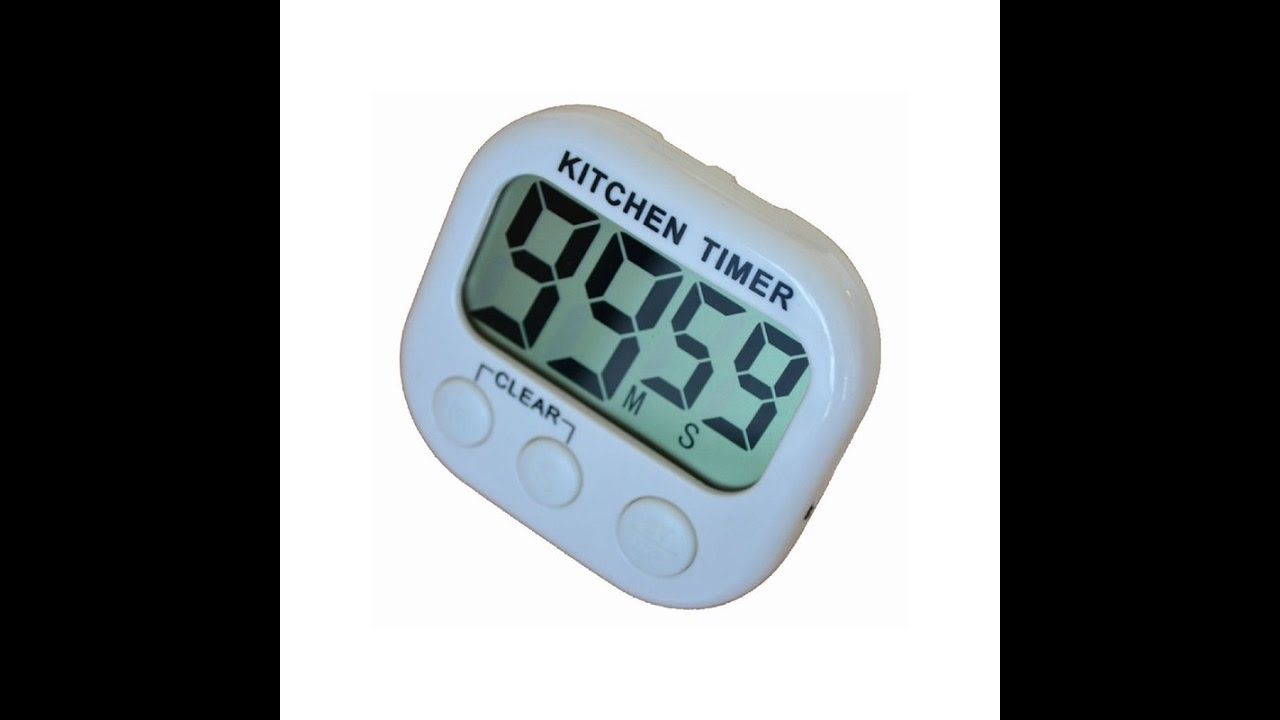 Digital Kitchen Cooking Timer Count-Down Up Clock Loud Alarm - YouTube