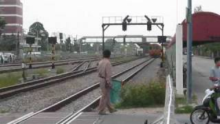 Spotting trains at Hua Takhe in Lat Krabang near Suvarnabhumi airport, Bangkok, Thailand