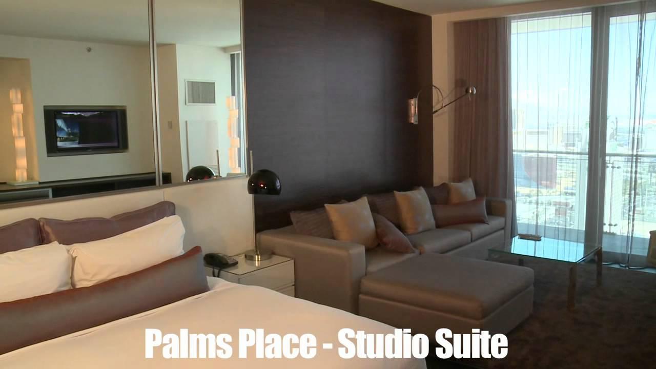 bookit previews- las vegas palms place studio suite - youtube