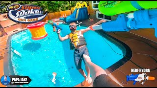 NERF GUN GAME | SUPER SOAKER EDITION | BACKYARD BATTLE ROYALE