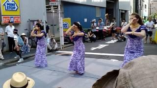 下町  七夕祭り通りでフラダンスをアップ   また、見たい、七夕祭りで1...