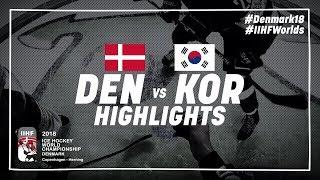 Game Highlights: Denmark vs Korea May 12 2018 | #IIHFWorlds 2018