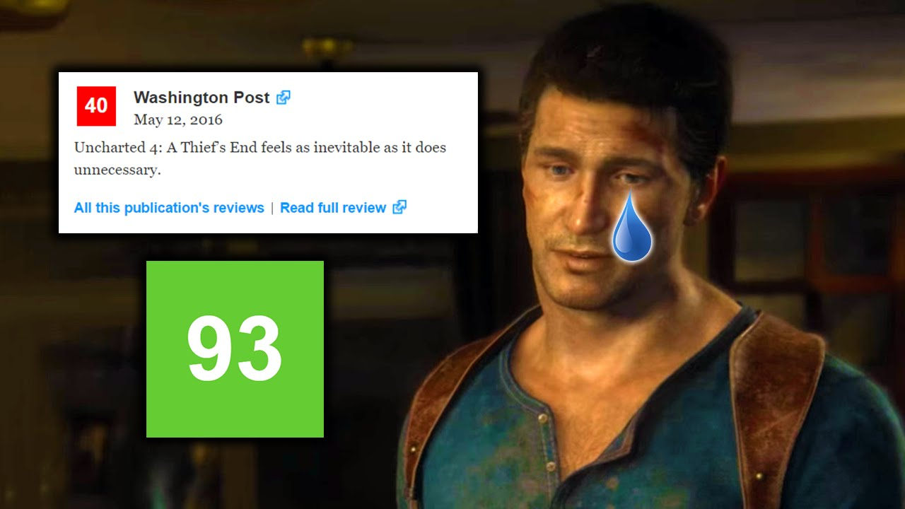 Uncharted 4 Gets Ridiculous 4/10 Review | Petition Started to Remove from  Metacritic - YouTube