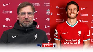 Klopp explains 'Hollywood signings' Ben Davies & Ozan Kabak and reacts to Joel Matip injury news