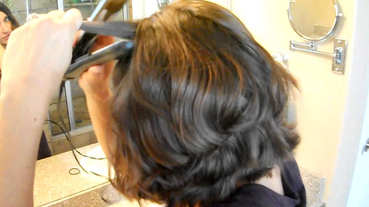 Flat Iron Waves Curly Hair Cute Girls Hairstyles Youtube