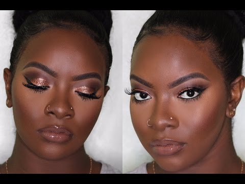 dark-skin-|-copper-eyes-&-nude-lip-makeup-|-prom-edition