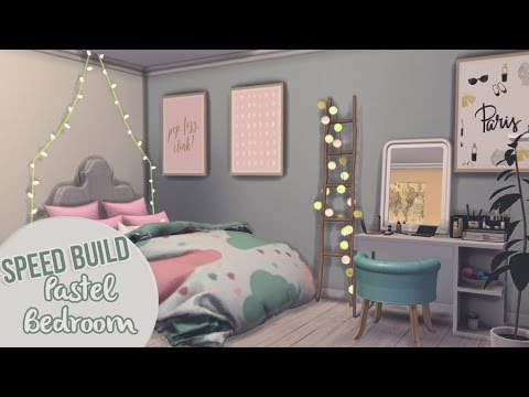 PASTEL BEDROOM | The Sims 4 Speed Build
