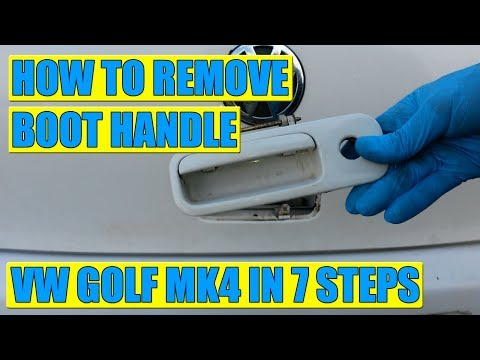 TUTORIAL: How to remove tailgate boot lock handle VW Golf Mk4 in 7 steps