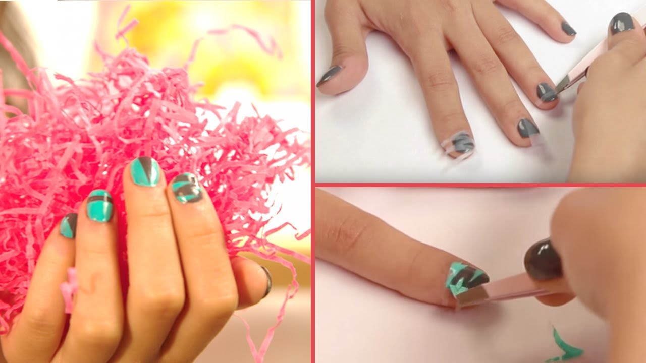 how to use scotch tape for nail art