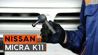 Replacing Tie rod end on NISSAN MICRA: workshop manual