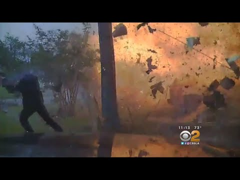 Texas House Explosion Caught On Video
