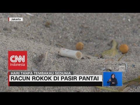 Bahaya Racun Rokok di Pasir Pantai