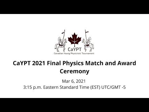 CaYPT 2021 Final
