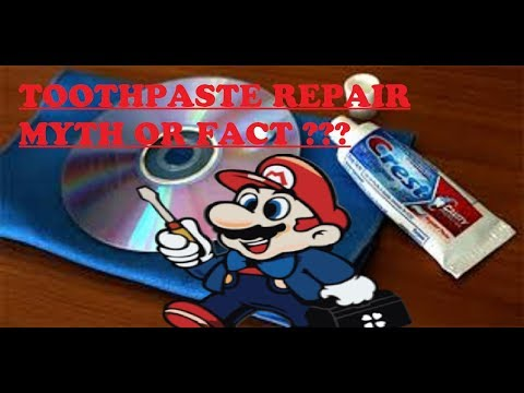 Mythbusting : Does Toothpaste Really fix /repair Scratched Video Games ??