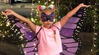 Алиса купила крылья БАБОЧКИ ! butterfly wings suit for kids !