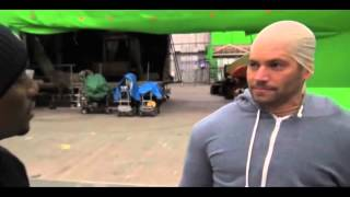 LOL: Paul Walker Imitates Vin Diesel On The Set Of 'Fast & Furious':