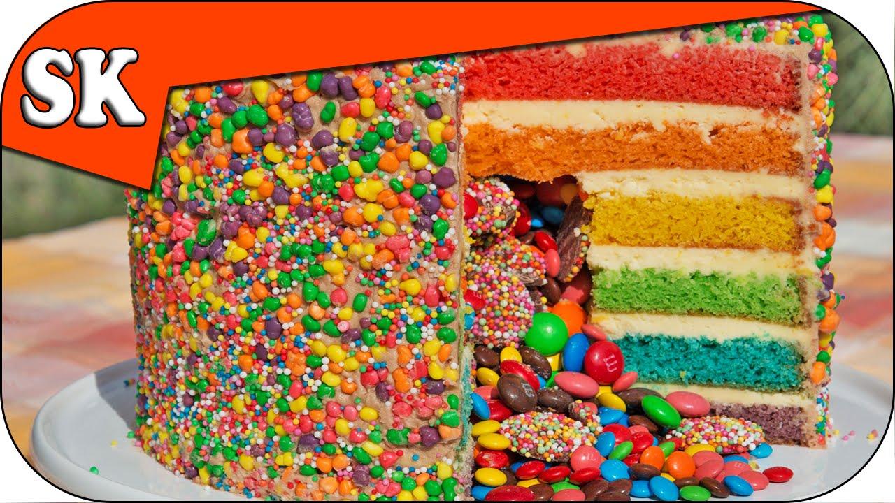 RAINBOW PINATA CAKE Rainbow Series 08 YouTube