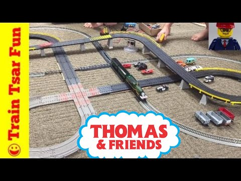 Thomas & Friends EMILY & GORDON Slot Car Train Crashes!