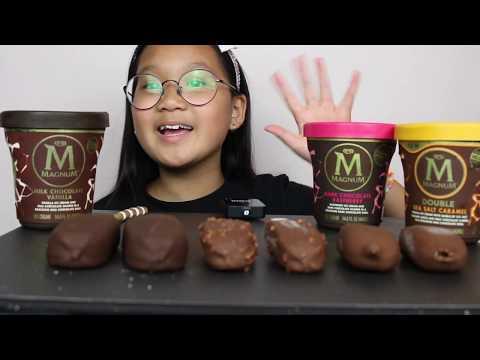 Magnum Ice Cream Mukbang~ Cattuong