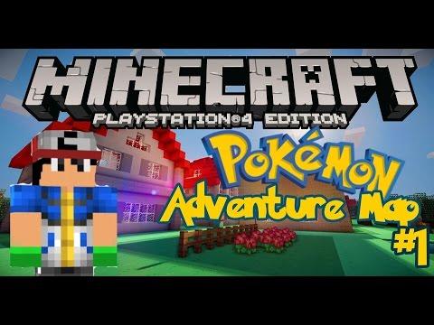 Minecraft PS4 Pokemon Adventure Map Part 1