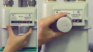 Счетчики газа BK G. Остановка магнитом.(, 2014-06-29T08:31:13.000Z)