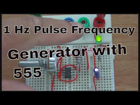 1 Hz Pulse Frequency Generator with 555
