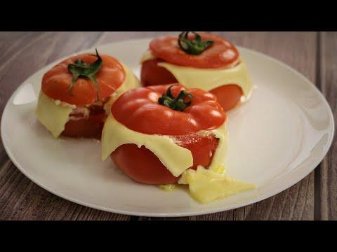 Завтрак за пять минут . Яичница в помидоре.