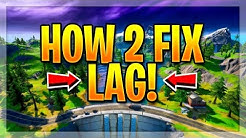 HOW TO FIX LAG ON FORTNITE!