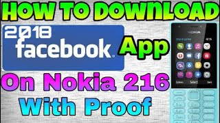 HOW TO DOWNLOAD FACEBOOK APP IN NOKIA 216 || BY TECH INSPIRE