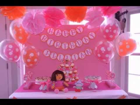 DIY Dora birthday party decorating ideas YouTube