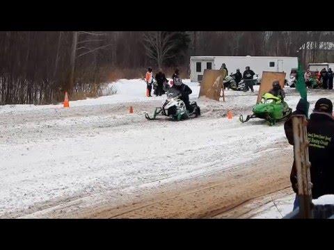 Snowmobile Drag Races (Starting Line) | Jason Asselin