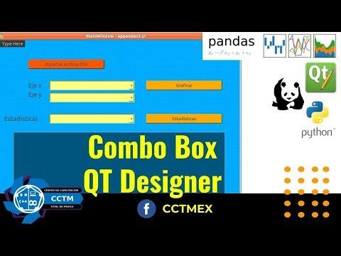 Asignar valores a ComboBox  QT Designer  Python   PyQT5   Pandas   Matplotlib   P5  ¡Muy básico!