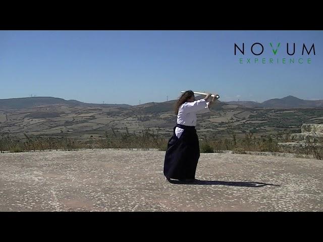 05 Go no suburi - Aikido Novum Experience - Ken suburi nanahon -合気道-  五の素振り- 剣素振り七本