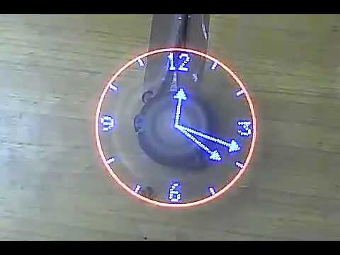 Rotating Led Clock Youtube