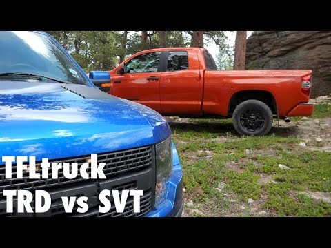 Exclusive: 2015 Toyota Tundra TRD Pro vs Ford F-150 SVT Raptor Off-Road Matchup Review