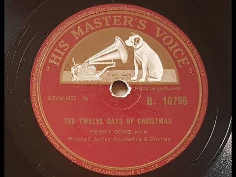Perry Como 'The Twelve Days Of Christmas' 1954 78 rpm mp3