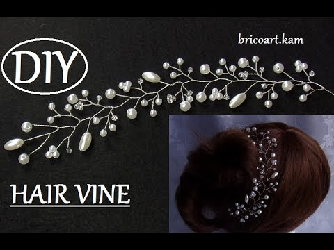 Diy Silver Hair Vine Bridal Headpiece Weding Hair Vine Branch Vigne De Cheveux De Mariage Youtube