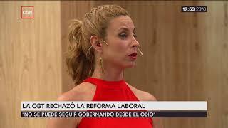 La CGT rechazó la reforma laboral: habla Hugo Yasky