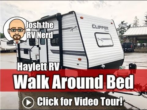 2018 Clipper 17fq Walk Around Bed Rear Bath Carpetless Couple S Small Barely Used Travel Trailer