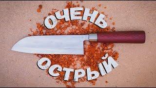 Самодельный японский нож сантоку, деба.