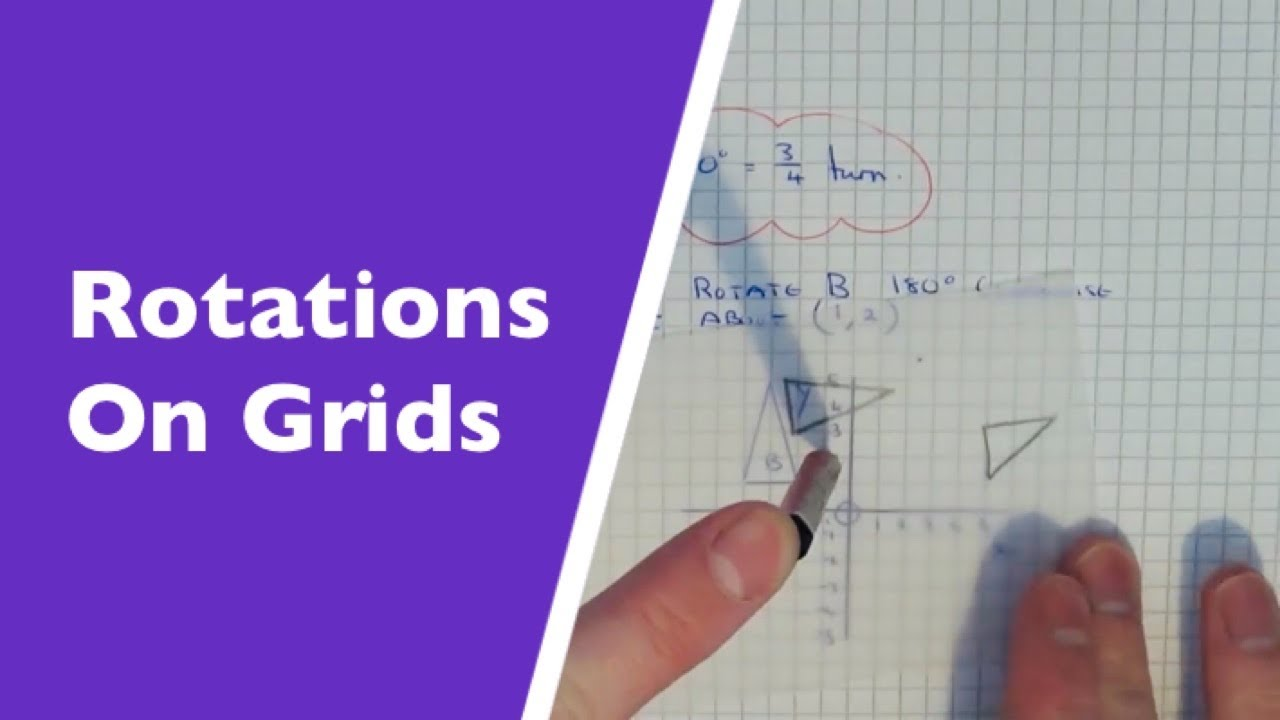 rotations  how to rotate a shape on a cooridinate grid using tracing paper