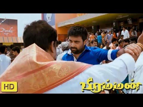Bramman Tamil Movie   Scenes    M. Sasikumar's Fight at Theater   Santhanam