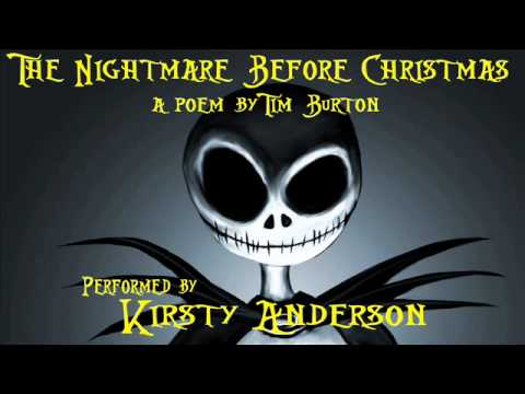 The Nightmare Before Christmas. A poem by Tim Burton. Performed by ...