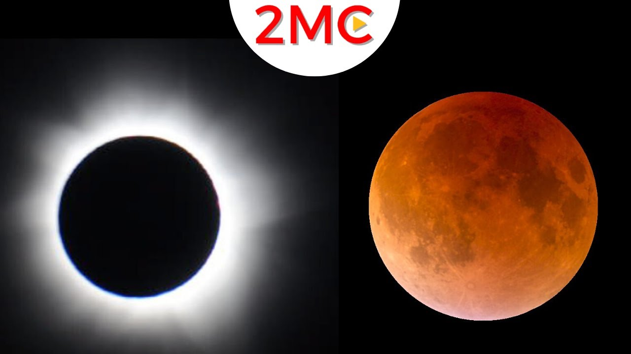 Solar Eclipse Vs Lunar Eclipse Youtube