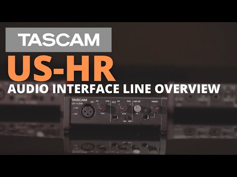 TASCAM US-HR Audio Interface Line Overview Video