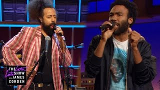 Repeat youtube video Donald Glover & Reggie Watts Make Music