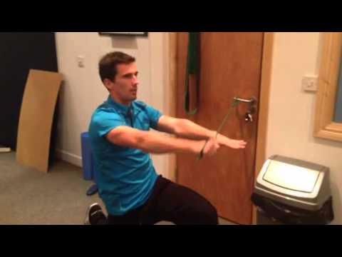 Shoulder Rehab Exercise-motor control