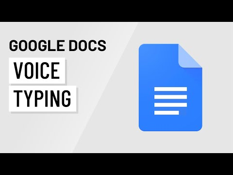 Google Docs: Voice Typing